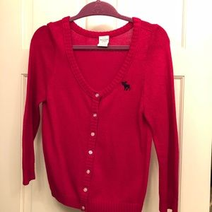 Abercrombie & Fitch red sweater.